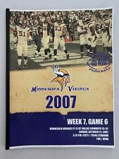 2007 DALLAS COWBOYS NFL FOOTBALL MEDIA GUIDE VS MINNESOTA VIKINGS RARE VINTAGE !