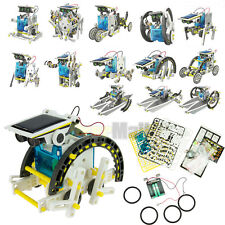 Creative DIY Assemble 14 In 1 Educational Solar Power Transformers Robot Kit Toy