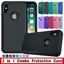 For iPhone X/XS XR XS MAX Hybrid Bumper Protective Case Hard Armor Rubber Cover
