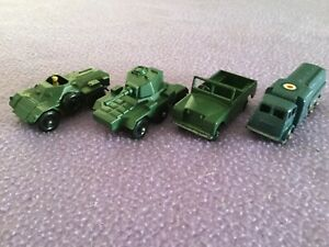 LESNEY MATCHBOX 4 MILITARY VEHICLES.