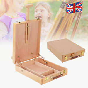 Portable Art & Craft Wooden Drawing Board Artist Table Easel Paint Painting Box