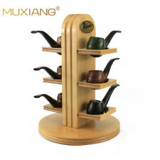 Peterson Finish Real Wood 6 Tobacco Pipe Rack Stand 6 Tobacco Pipe Holder Xmas