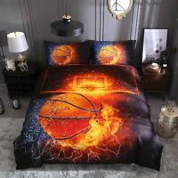3D Basketball Fire Duvet Cover Bedding Set Soft Quilts Cover Set Pillowcase