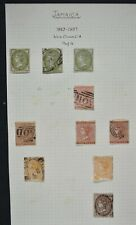JAMAICA a collection of mainly Victorian stamps on 7 album pages, MM, MNG & used