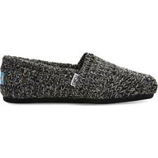 Toms Alpargata Womens Vegan Indoor Outdoor House Shoes Slippers Black Size 4-8