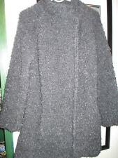 Gorgeous Berretti lightweigh sweatercoat,charcoal,cowl neck,size M