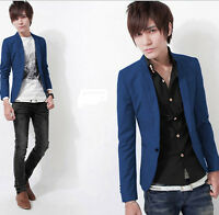 Stylish Men's Fashion Casual Slim Fit One Button Suit Blazer Coat Jacket Tops