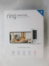 Ring Indoor Cam Compact Plug-In HD Security Camera with two-way talk - White