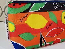 Clinique Donald X Makeup Cosmetic Bag - Fruit & Lips - Nwt