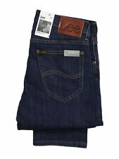 Mens Lee Jeans Brooklyn Stretchable Straight Leg Regular Fit Trousers 30 to 42