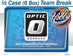 NEW YORK METS 2021 DONRUSS OPTIC BASEBALL 1/2 Case (6 Box) TEAM BREAK #5