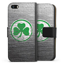 Apple iPhone 5s Tasche Hülle Flip Case - Metal Scratch SpVgg