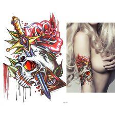Temporary Tattoo Fake Tattoo Illuminati Skull&Roses  wasserfest (HB-689)