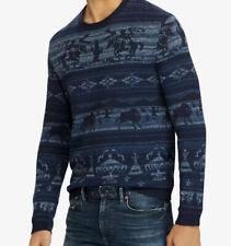 NEW Polo Ralph Lauren Mens XL Southwestern Aztec Buffalo Western Cowboy Sweater