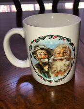 """Emmett Kelly, Jr. 1988 """"This the Season"""" Christmas Mug"""