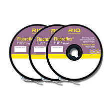 Rio Fluoroflex+ Plus Tippet 3-Pack In Sizes 4X-5X-6X 30Yd Spool Of Each Size