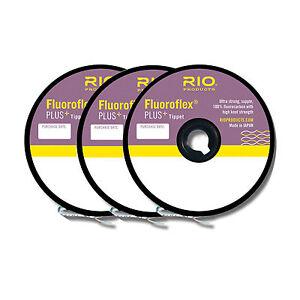 RIO FLUOROFLEX+ PLUS TIPPET 3-PACK IN SIZES 3X-4X-5X 30YD SPOOL OF EACH SIZE