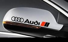 Audi 2er Set Logo Spiegel Rückspiege Sticker Aufkleber S-line Quattro A3 A4 A6