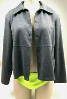 L.L. Bean Traveler women's gray jacket P Small collar, button front, career, NWT
