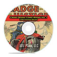Crime Drama, Suspense, Vol 1, Crime and Justice, Golden Age Comics DVD D74