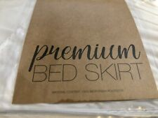 Premium Bed skirt White Set Of Two