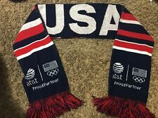 USA United States Of America Red White & Blue Winter Men's Women's Scarf