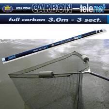 "42"" INCH CARP PIKE FISHING LANDING NET WITH DUAL 2 NET FLOATS + 3M CARBON HANDLE"