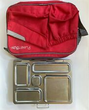 New listing PlanetBox Rover Stainless Steel Bento lunchbox with Red carry case container