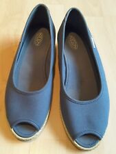 KEEN BLUE AND WHITE WEDGE SHOES SIZE 7