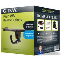Anhängerkupplung abnehmbar für VW Beetle Cabrio +E-Satz Kit NEU AHK