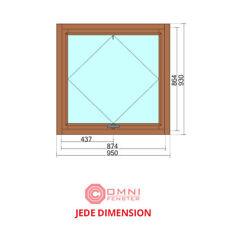 Holzfenster Fenster HOLZ Kiefer oder Meranti 95 x 93 cm TOP QUALITÄT/PREIS!!!