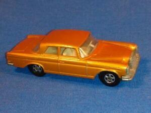 1970 Matchbox Lesney Superfast #46 Mercedes 300 SE  Gold Narrow Wheels, NICE!