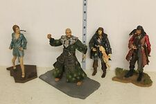 Pirates of the Caribbean At Worlds End Set of 4 Figures LOOSE 3 with bases