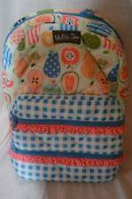 NWT Matilda Jane Backpack Study Group Apples Pears Blue Plaid
