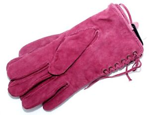 NEW LADIE's 100% SUEDE LEATHER LIGHT PURPLE ELEGANT EVENING GLOVES SIZE S/M. NWT