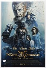 Johnny Depp Pirates Of The Caribbean Autograph Signed Photo JSA 12 x18