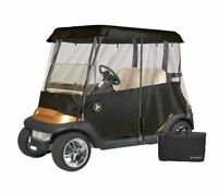 Drivable Person Golf Cart Enclosure Cover Fits 2 Person Cart Universal -Black
