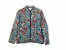 BonWorth Womens Leaf Zip Blazer Size Small-Petite