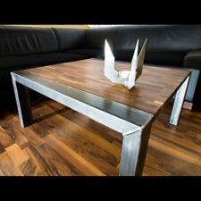 Couchtisch Aus Stahl Und Walnuss Massivholzplatte   Design Von LICHTfunken