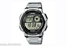 Casio Digital World Time Date 10-Year Battery Casual Sport Watch AE1000WD