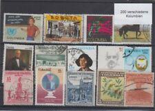 200 verschiedene Briefmarken aus Kolumbien Colombia