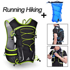 Hiking Camping Cycling Running Hydration Pack Backpack Vest&2L Bladder Water Bag