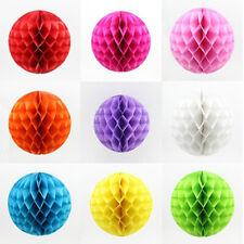 BL_ KQ_ Tissue Paper Honeycomb Lantern Ball Pom Poms Wedding Party Baby Living D