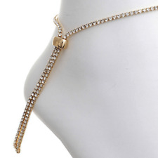 Beach Summer Ankle Bracelet Gift Gold Rhinestone Slider Anklet For Women