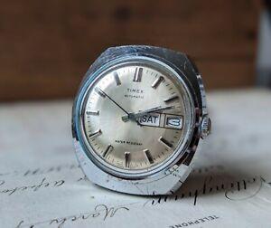 Gents Vintage Timex Viscount Automatic Sunburst 1977 Baton Daydate Watch Working