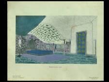 JACQUES-EMILE RUHLMANN, DECOR  - POCHOIR 1924 - ART DECO, HARMONIES INTERIEURS
