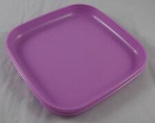 Tupperware Picknickteller Kinderteller Teller Picknick Quadratisch Flieder Neu
