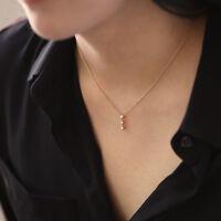 Brilliant Cut Diamond Drop Pendant Necklace Wedding Engagement Anniversary Gift