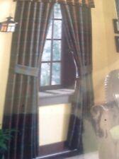 Croscill Caribou/ Riverdale Pole Top Drapery (2), Lined, $220 Retail, NIP
