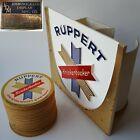 Vtg 1960s Ruppert Knickerbocker Beer Plastic Bar Tool Caddy/Display +54 Coasters